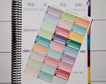 27 To Do Half Boxes | Planner Stickers designed for use with the Erin Condren Life Planner | 1051