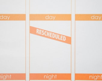 Rescheduled Stickers  | Planner Stickers designed for use with the Erin Condren Life Planner | 0912