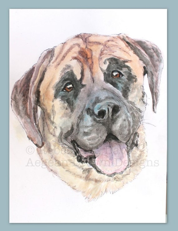 Personalized pet portrait, colorfully hand painted in watercolors, custom made from a photo of your pet, perfect holiday gift for pet owners