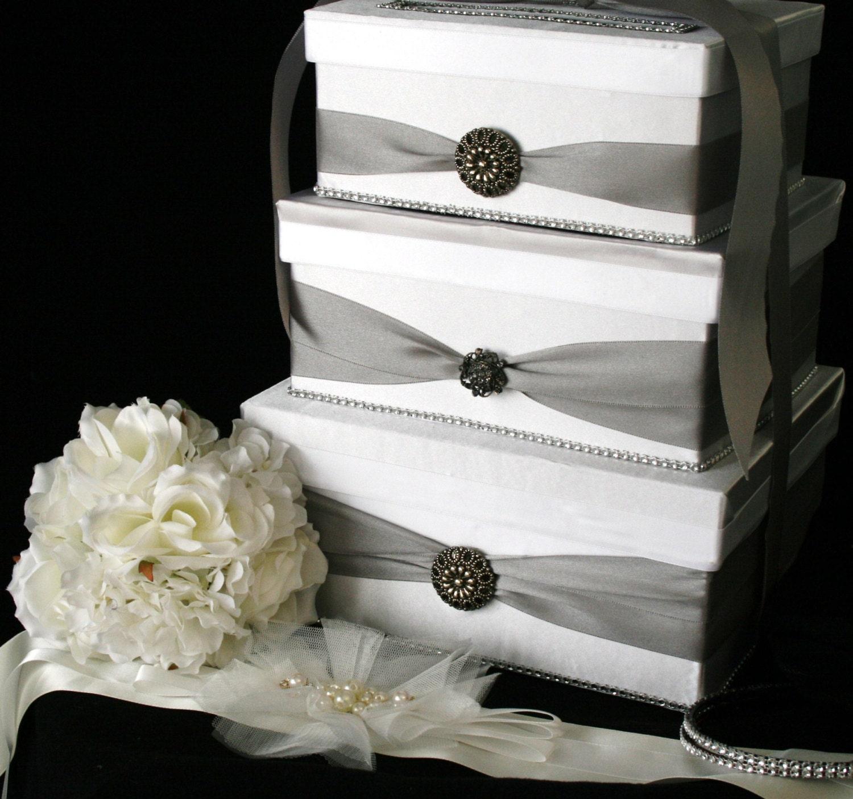 3 Tier Wedding Gift Box : CUSTOM 3 Tier WEDDING CARD Box Your choice by TheCompleteWedding