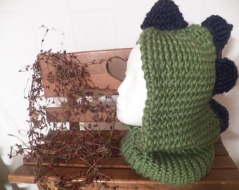 Knitted Dragon Hooded Hat