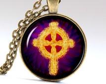 Celtic Necklace Irish cross Pagan jewelry Celtic Pendant Celtic Jewelry Irish Necklace Irish Jewelry Pagan Pendant Pagan Necklace LG035