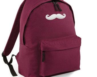 Moustache Backpack Back to School Street Bag Ruck Sack