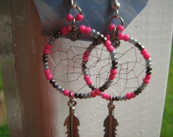 Earrings pink dreams