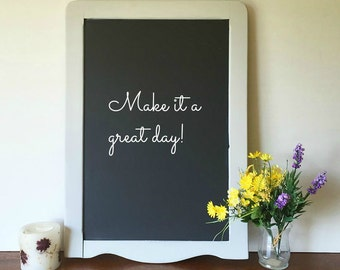 Large Cottage Gray Wood Framed Chalk Board, Wedding Decor