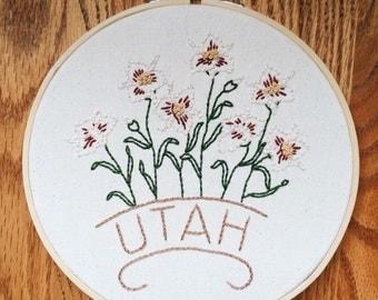 """Utah - Sego Lily 8"""" Hoop"""