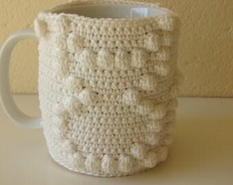 Mug cozy cat | cup cozy | mug cozy | cup cozy cat | coffee cozy | sleeve cozy | crochet cozy | white cozy | white cat sleeve