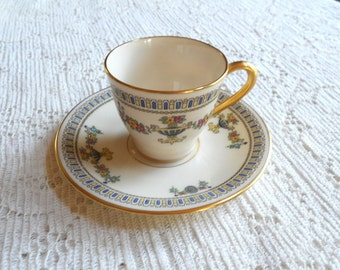 Vintage Lenox The Colonial T2 china demitasse cup and saucer set