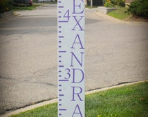 Wooden Growth Chart Ruler.  Customize your own family growth chart ruler.