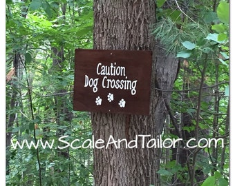 Custom Dog Signs. Caution Dog Crossing Sign / Beware of Dog Sign. Custom Pet Signs. Gift for Dog.  Gift for Pet.  Christmas Gift for Dog.
