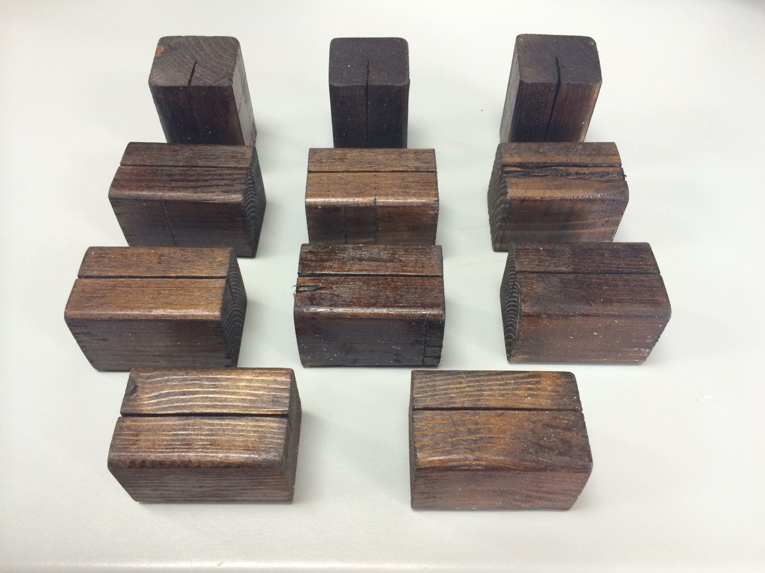 10 wooden table number holders or sign holders table number for Table number holders