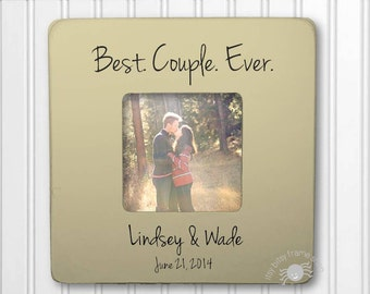 Wedding Gift Anniversary Gift Engagement Gift  Personalized Frame Best Couple Ever