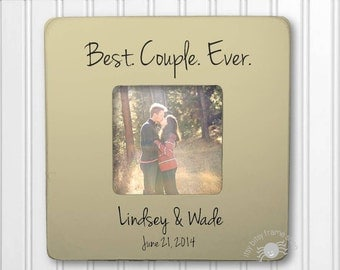 1st Anniversary Frame Wedding Gift Anniversary Gift Engagement Gift  Personalized Frame Best Couple Ever IBFS-WED