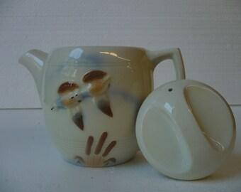 Porcelier Teapot Ducks in Flight