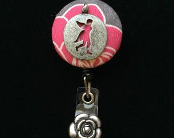 Fairy Walk-Nurse Retractable ID Badge Reel/ RN Badge Holder/Doctor Badge Reel/Nurse Badge Holder/Nursing Student Gift