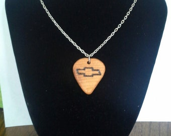 Chevrolet Guitar Pick Necklace