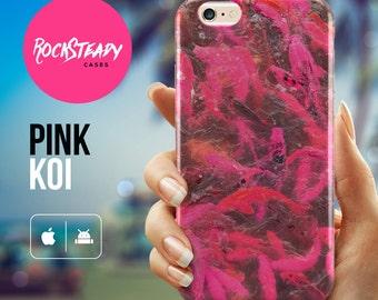 Fish iPhone 6 case, 7 Plus, Koi Carpe iPhone 5s Case, iPhone SE, 5C case, samsung galaxy s7, s6 s5 case, pink, koi fish, cover