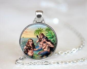 Mermaid Necklace, Mermaid Jewelry, Mermaid Pendant, Mermaid, Sirens of the Sea