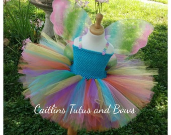 Rainbow fairy tutu, rainbow butterfly tutu, fairy tutu dress, rainbow tutu dress, butterfly costume, fairy tutu costume, fairy costume, tutu