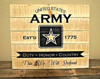 Army Pallet Sign