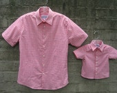 MENS SHIRT- Father son matching short sleeve shirts! (sold separately) Perfect for baby showers, birthdays & family photos! Father son.