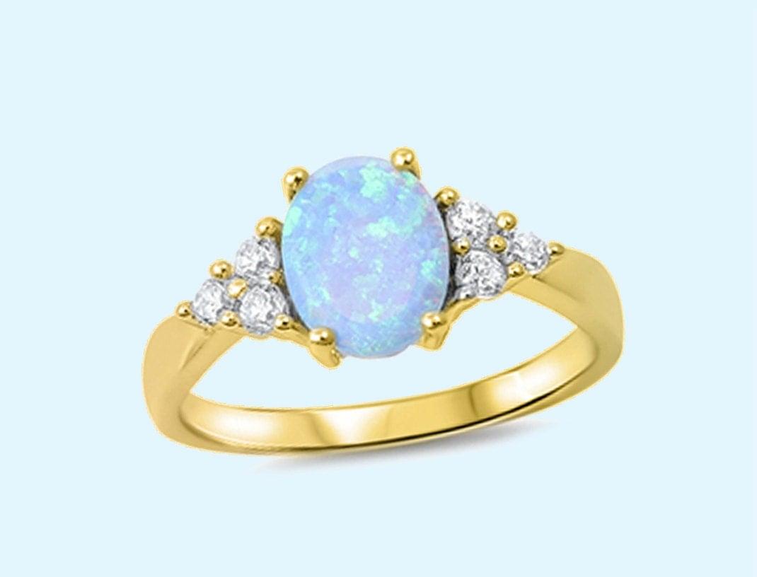 Gold Light Blue Opal stone White - 62.5KB
