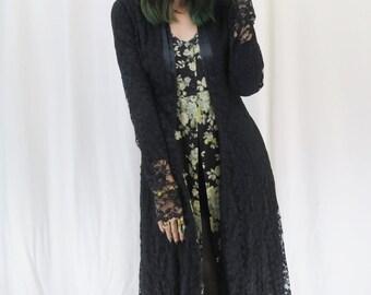 Selena Black lace Coat