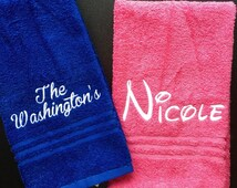 Embroidered Hand Towels, Personalized Hand Towels, Bathroom, Kids Personalized Hand Towels, Birthday Present, Holiday, School, Daycare