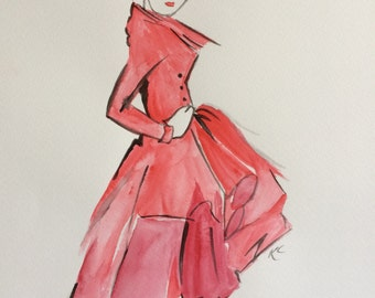 Original Watercolour Fashion 2 Wall Art