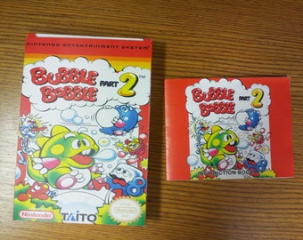 Bubble Bobble part 2 nes box and manual