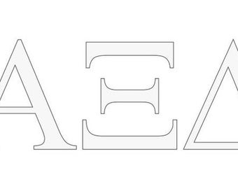 alpha xi delta letter window decal