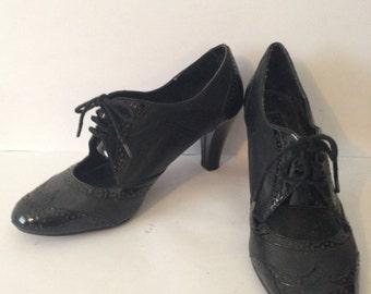 Black Oxford Heel size 7