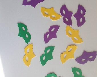 Mardi Gras Confetti, Masquerade Confetti, Masquerade Party Decor, Purple/Green/Gold Confetti