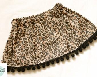 Handmade Wild Babe Skirt with Poms