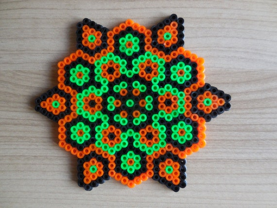 Halloween ornament Halloween Mandala Hama Beads pixel art