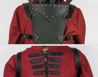 """Leather straps for wearing quiver as """"backpack"""""""