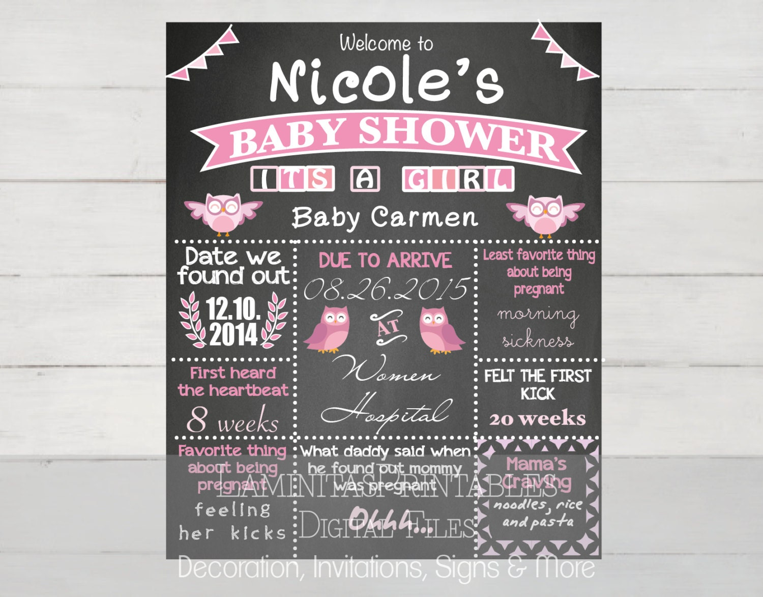 baby shower decorations baby shower chalkboard sign baby