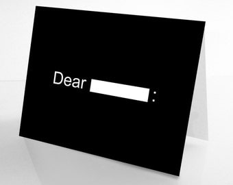 Dear Blank Breakup Card