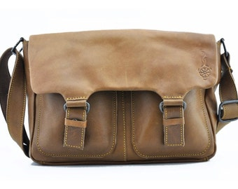 Leather  cross over satchel bag