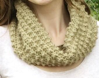 Crocheted Light Brown Cowl