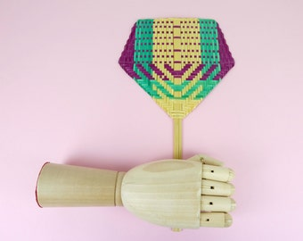 Colorful Bamboo Weaving Handheld fan