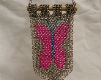 Small Chainmail Fluttershy Cutie Mark Banner