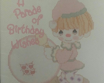 Precious Moments (PM21) A Parade of Birthday Wishes, Volume 1, Cross Stitch Pattern Booklet