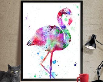 Flamingo Watercolor Art Print, Watercolor Painting, Watercolor Art Print, Watercolor Animal, Bird Art, Watercolor Poster (14)