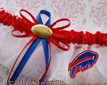 BUFFALO BILLS handmade bridal wedding garter - keepsake - pick charm