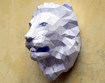 Make Your Own Lion Sculpture.| Papercraft Lion | Paper Lion | Lion Sculpture | Lion King | King Of The Jungle | Paper Animal | Wild Animal |