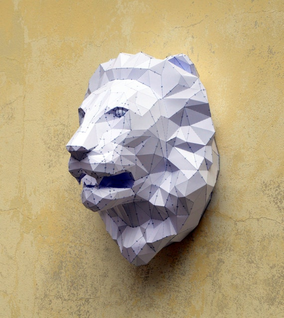 make your own lion sculpture papercraft lion paper lion. Black Bedroom Furniture Sets. Home Design Ideas
