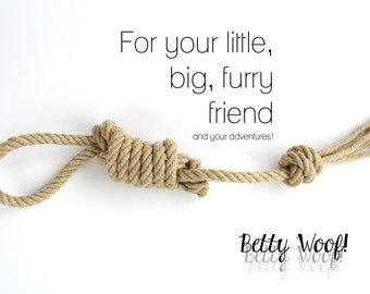 Organic Dog Toy for your Pup! Ideal for Tug of War & Fetch - Handmade - Knotted in Switzerland
