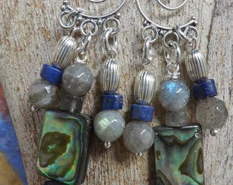 Blue flash Labradorite Dangle earrings