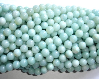 Amazonite Beads, Round, 8mm, 15.5 Inch, Full strand, Approx 49 beads, Full strand, Hole 1mm (111054003)